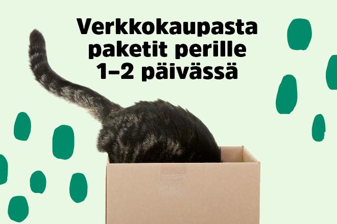 Verkkokaupasta paketit perille 1-2 päivässä