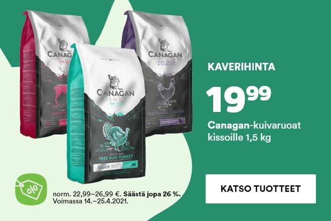Kaveritarjous: Canagan 1,5kg kissan kuivaruoat 19,99€