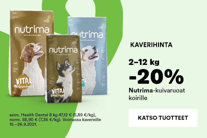 Nutrima kuivaruoat koirille 2-12kg -20%