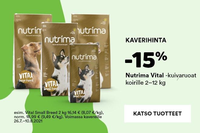 Nutrima Vital -kuivaruoat koirille -15%