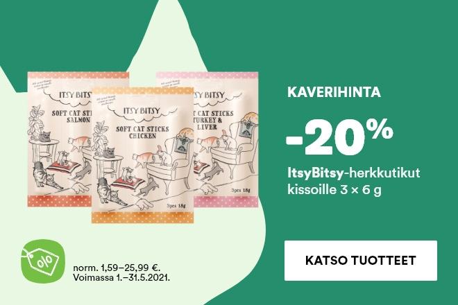 ItsyBitsy kissan herkkutikut 3x6g -20%