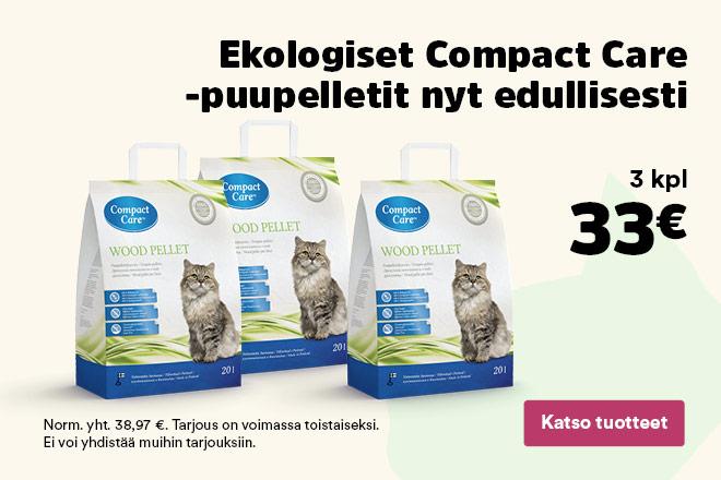 Compact Care -puupelletit 3 kpl 33 €