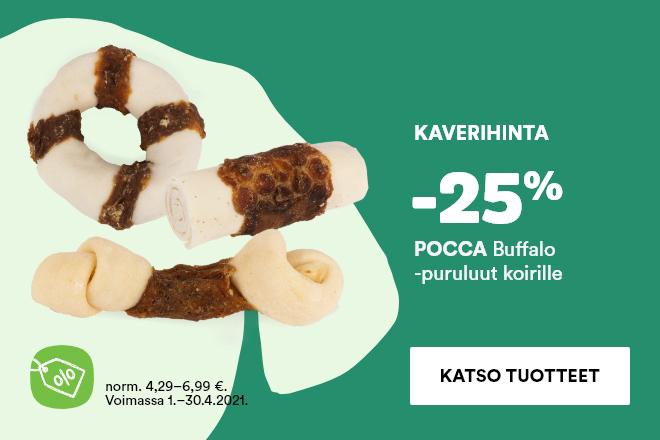 Kaveritarjous: Pocca Buffalo -puruluut -25 %