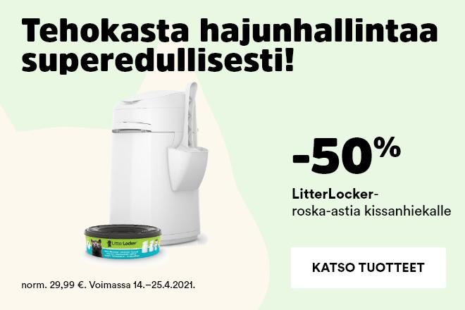 LitterLocker roska-astia kissanhiekalle -50%