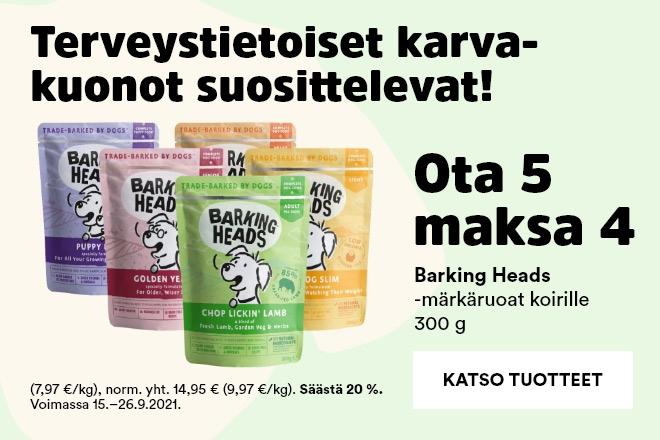 Barking Heads-märkäruoat koirille 300g Ota 5 Maksa 4