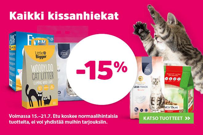 Kaikki kissanhiekat -15%