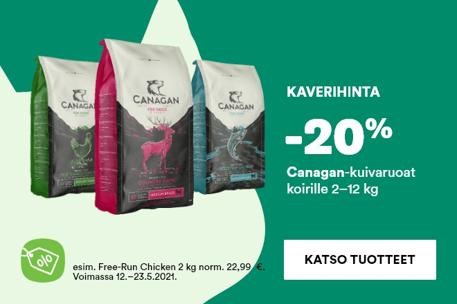Canagan-kuivaruoat koirille -20%