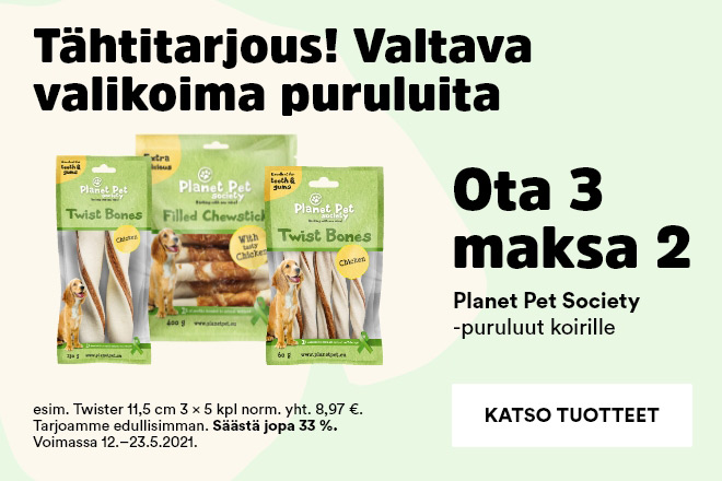 Planet Pet Society -puruluut Ota 3 maksa 2