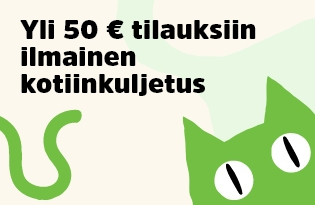 Yli 50€ tilauksiin ilmainen kotiinkuljetus