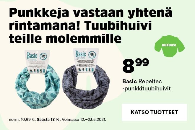 Basic Repeltec -punkkihuivit 8,99 €