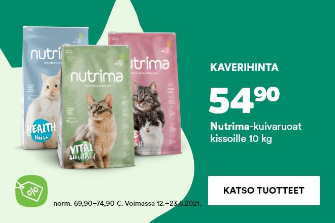 Nutrima 10kg kissan kuivaruoka 54,90 €
