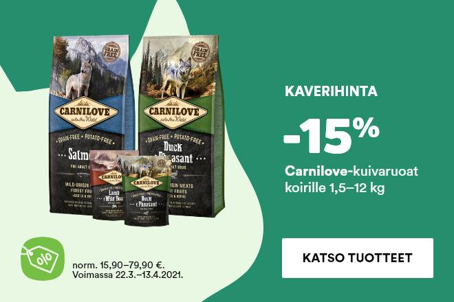 Carnilove-koiranruoka -15 %