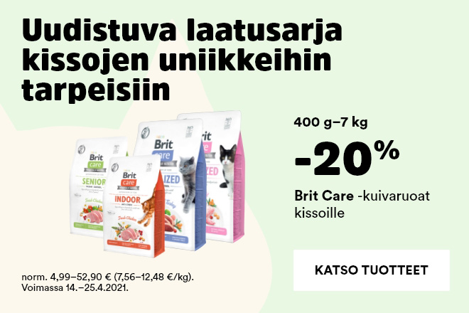 Brit Care kuivaruoat kissoille -20%