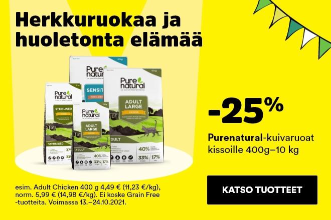 Purenatural-kuivaruoat kissoille -25 %