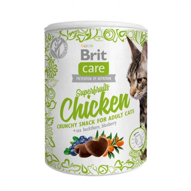 Brit Care Cat Snack Superfruits Kana 100g