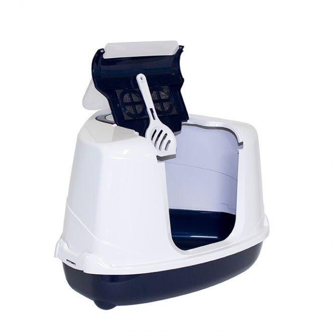 Moderna Flip Corner kissanvessa tummansininen (Sininen)