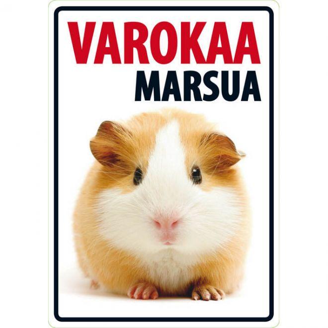 """Lemmikkikyltti """"Varokaa marsua"""" (21 x 15 cm)"""