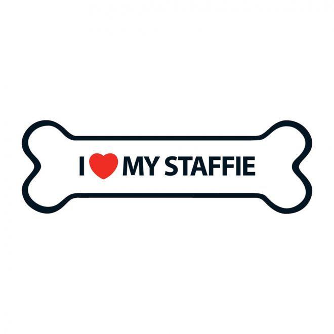 Magnet&Steel Magnet I Love My Staffie