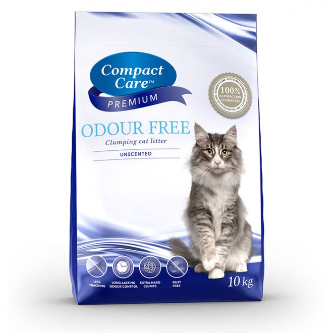 Compact Care Premium Odour Free kissanhiekka 10kg (10 kg)**