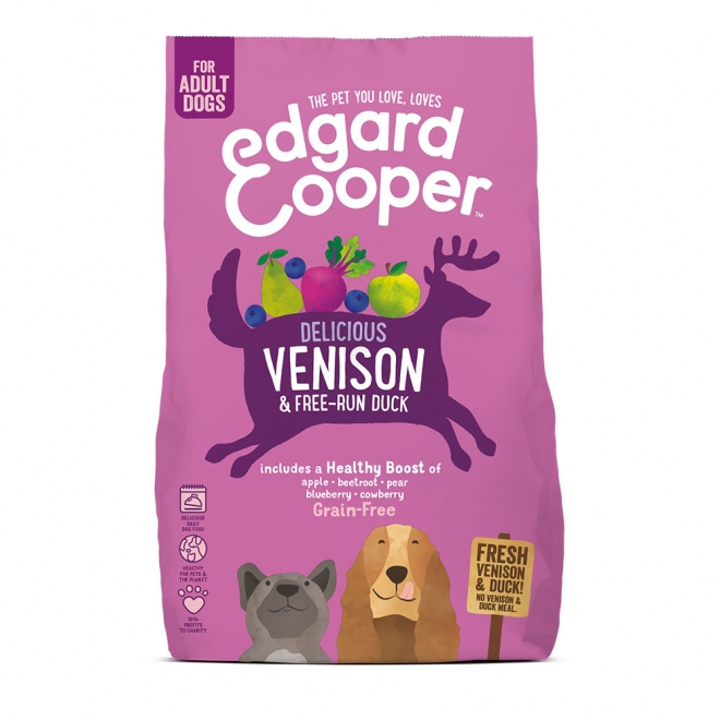 Edgard & Cooper Dog Grain Free Venison & Duck