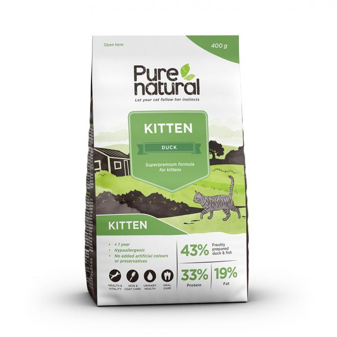 Purenatural Cat Kitten Duck (400 g)