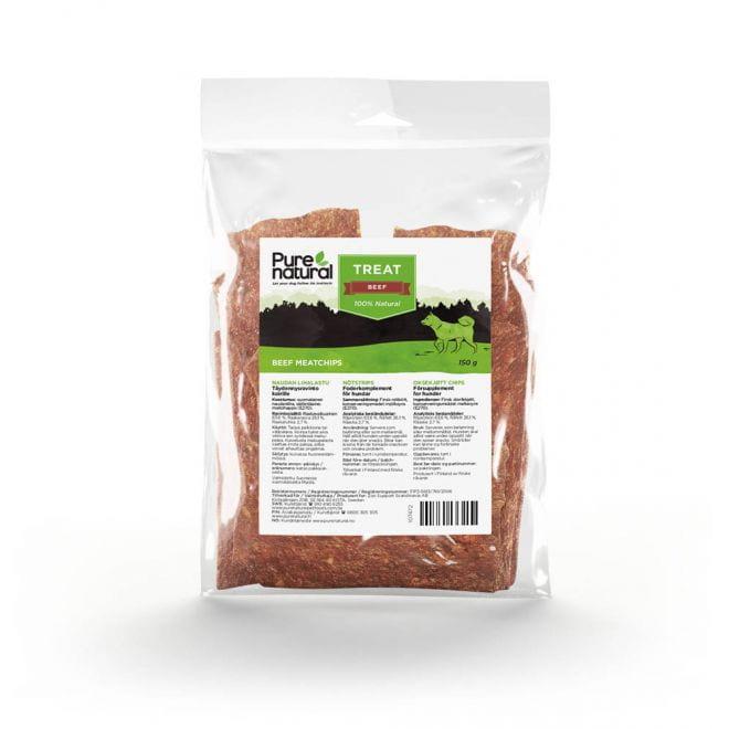 Purenatural Naudan Lihalastu koiralle (150 grammaa)