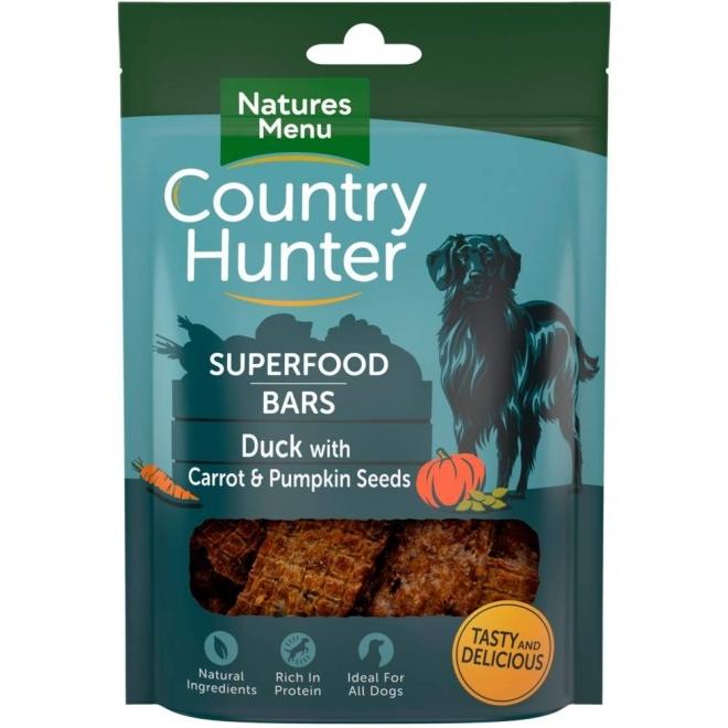 NaturesMenu Country Hunter Superfood Bar ankka 100 g