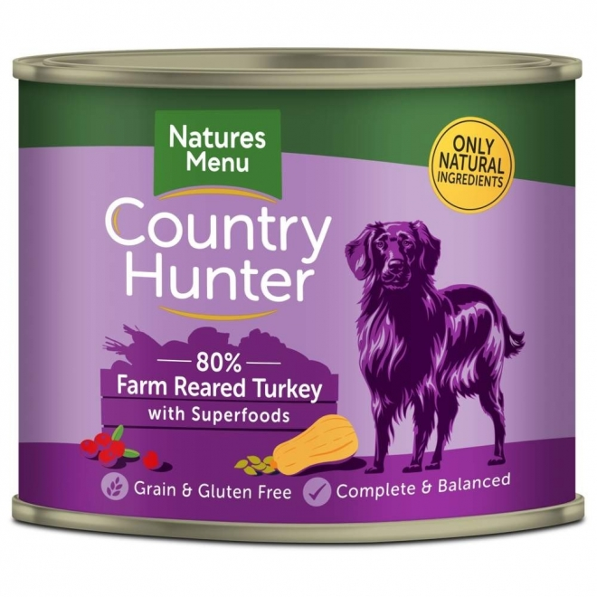 Natures:menu Country Hunter Dog kalkkuna 600 g