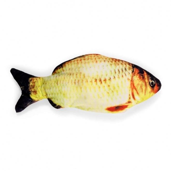 Little&Bigger KickFish USB-ladattava kalalelu kissanmintulla (Keltainen)