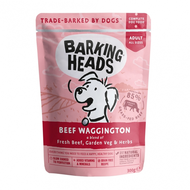 Barking Heads Beef Waggington 300 g