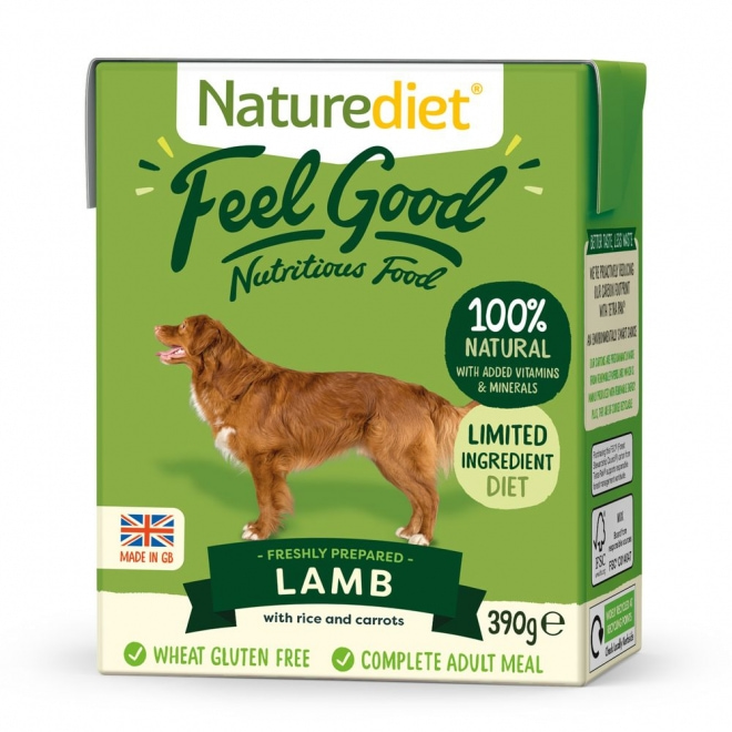 Naturediet Feel Good lammas (390 grammaa)