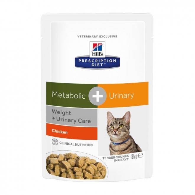 Hills Diet Cat Met + Ur Pouch 12x85g