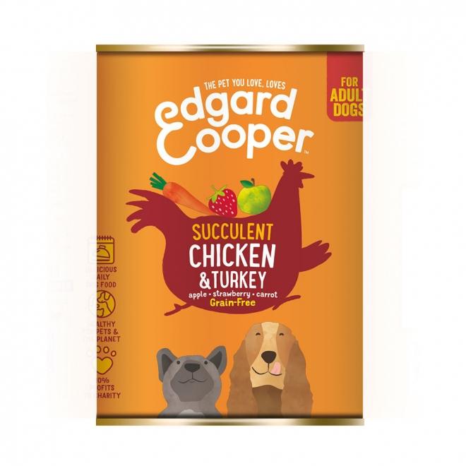 Edgard&Cooper Dog kana & kalkkuna (400 g)