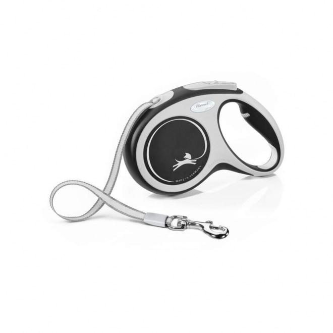 Flexi New Comfort Tape M 5 m (Musta)