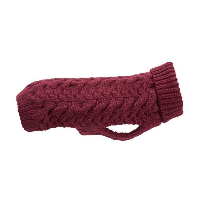 Basic Wool plait neule vin.pun