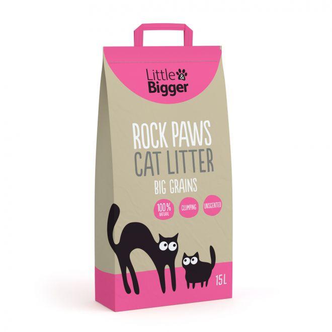 Little&Bigger Rock Paws karkea kissanhiekka
