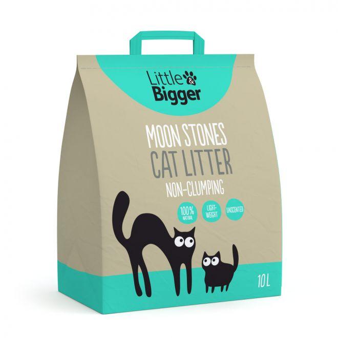 Little&Bigger Moon Stones paakkuuntumaton kissanhiekka 10 L