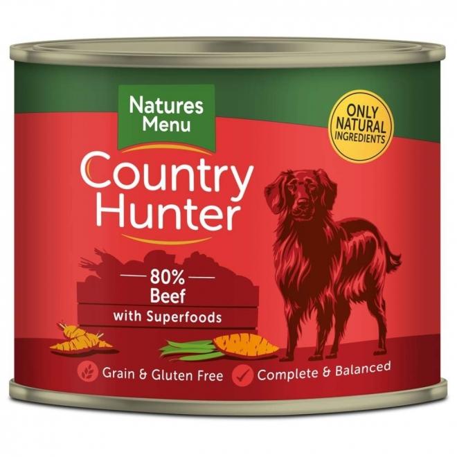 Natures:menu Country Hunter Dog nauta 600 g