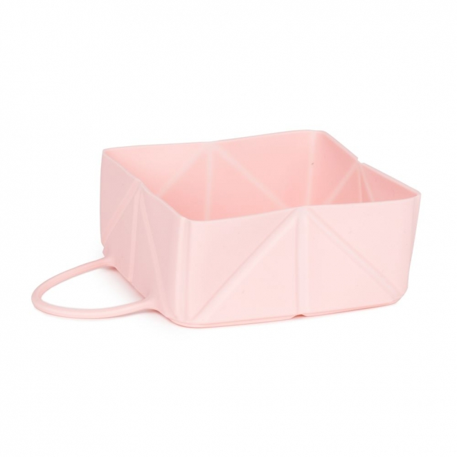 Little&Bigger Fold matkakuppi silikoni Rosa