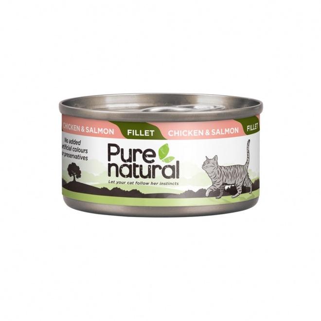 Purenatural Cat Fillet Chicken & Salmon 70 g