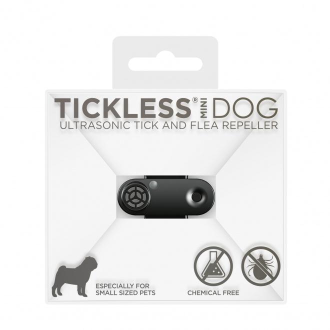 Tickless MINI DOG -punkkikarkotin koiralle (Musta)