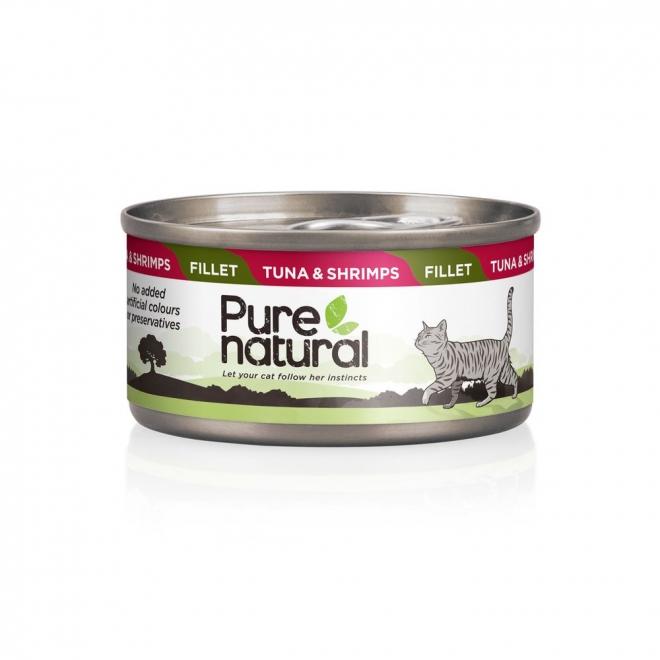Purenatural Cat Fillet Tuna & Shrimps 70 g