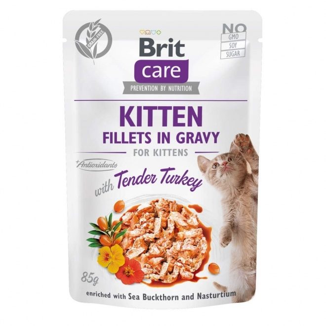 Brit Care Cat Gravy Kitten kalkkunafilee kastikkeessa 85 g
