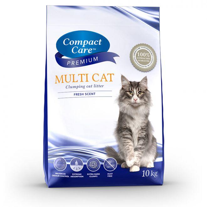 Compact Care Premium Multi Cat kissanhiekka 10kg (10 kg)