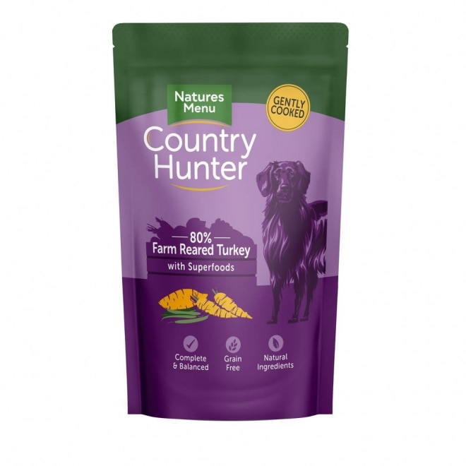 Natures:menu Country Hunter Dog Turkey 150 g