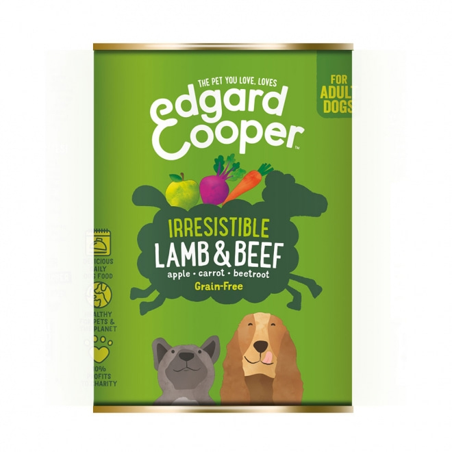 Edgard&Cooper Dog lammas & nauta (400 g)
