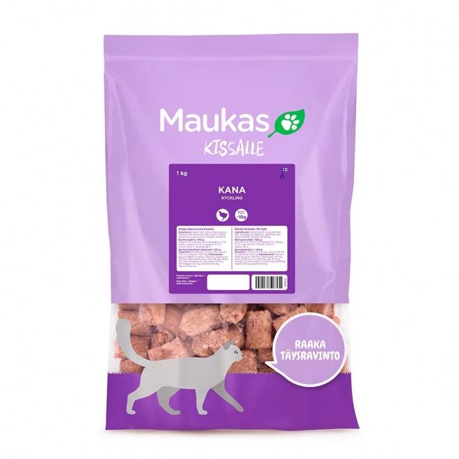 Maukas raaka täysravinto kissalle kana 1 kg