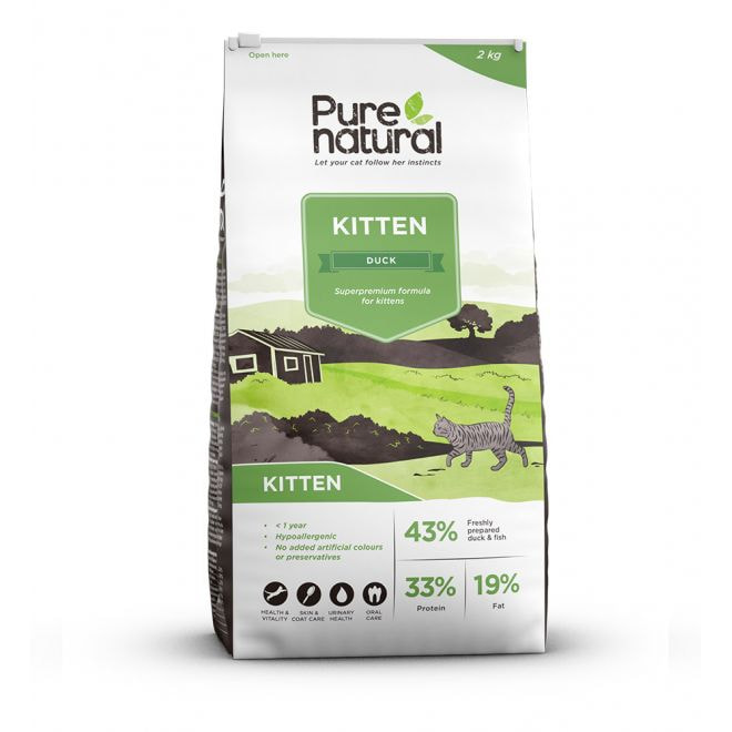 Purenatural Cat Kitten Duck (2 kg)
