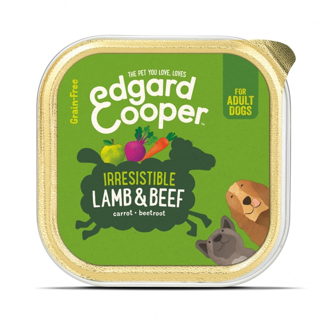 Edgard&Cooper Dog lammas & nauta (150 g)