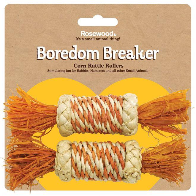 Rosewood Corn Rattle Rollers 2 kpl